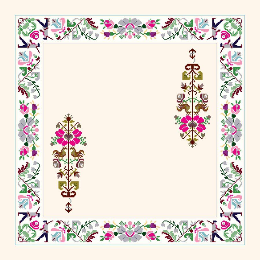 """JAUNUMS! Lakats ar ziedu """"lauzto sirdi"""" un mājpuķītēm. 60x60cm"""